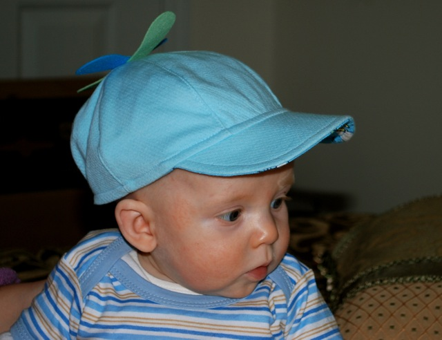 Josiah with his hat