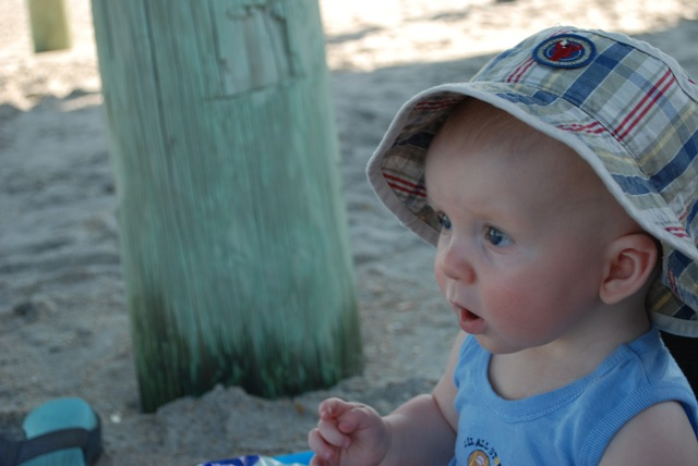Josiah at the beach1