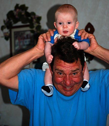 baby and his grandpa